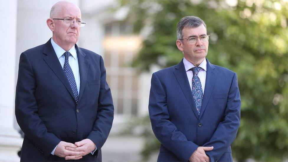 Charlie Flanagan and Drew Harris