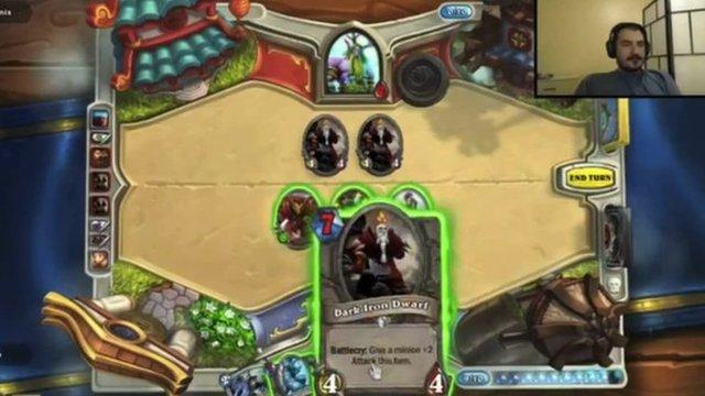 Screenshot of video game being played