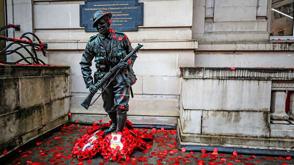 Statue of the unknown soldier in Liverpool