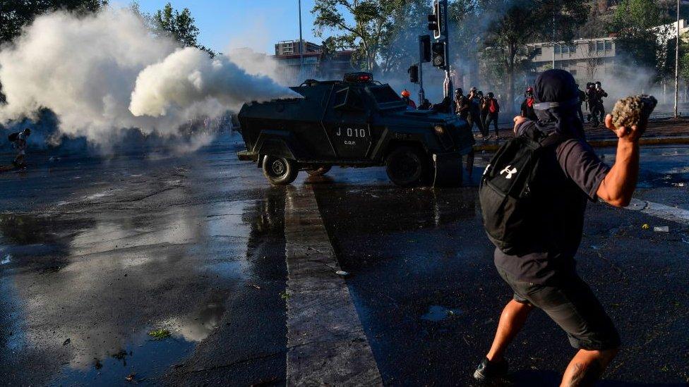 Santiago protestas