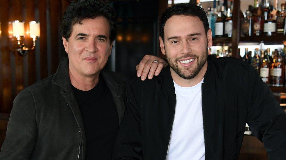 Scott Borchetta (left) and Scooter Braun