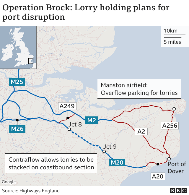 Graphic of lorry holding plans