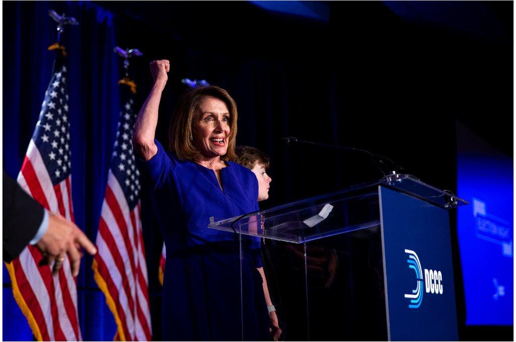 民主黨元老佩洛西 (Nancy Pelosi)第二次出任美國眾議院議長。