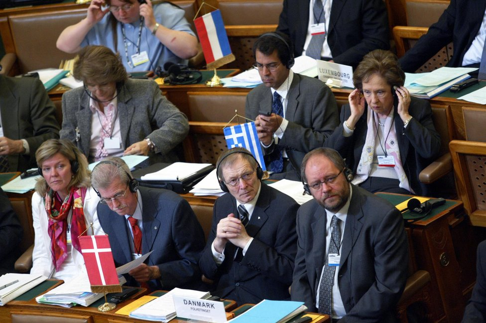 European MPs in Budapest, 2005 - file pic