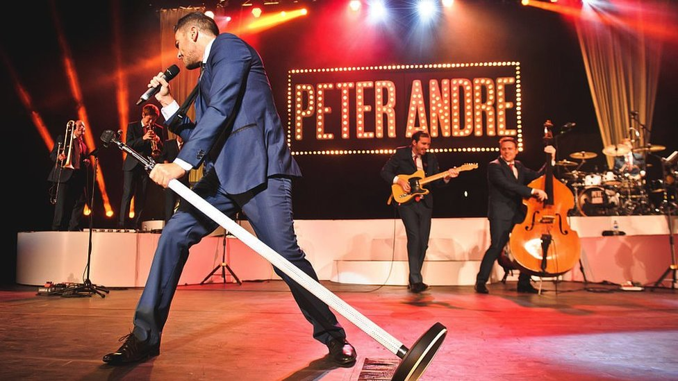 Peter Andre on stage at the Royal Albert Hall