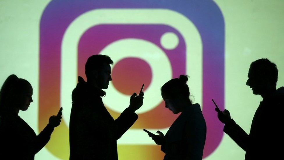 Instagram logo and users