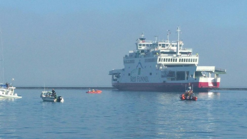 Red Funnel ferry: Eyewitness heard shouting from crash site