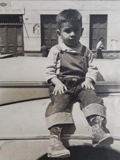 Karl Garver de niño