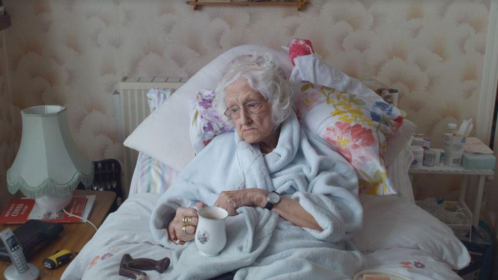 Mary en cama