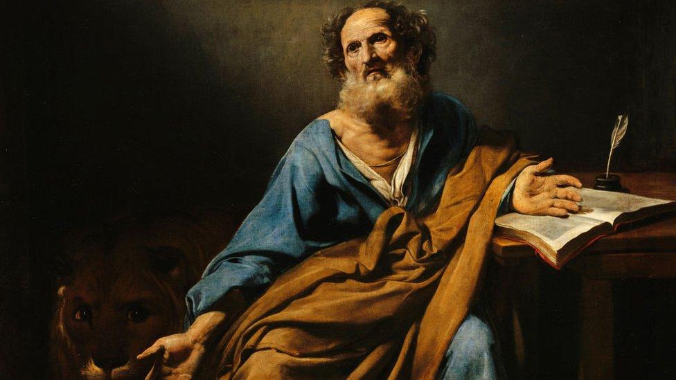 Pintura del siglo XVII de San Marcos.
