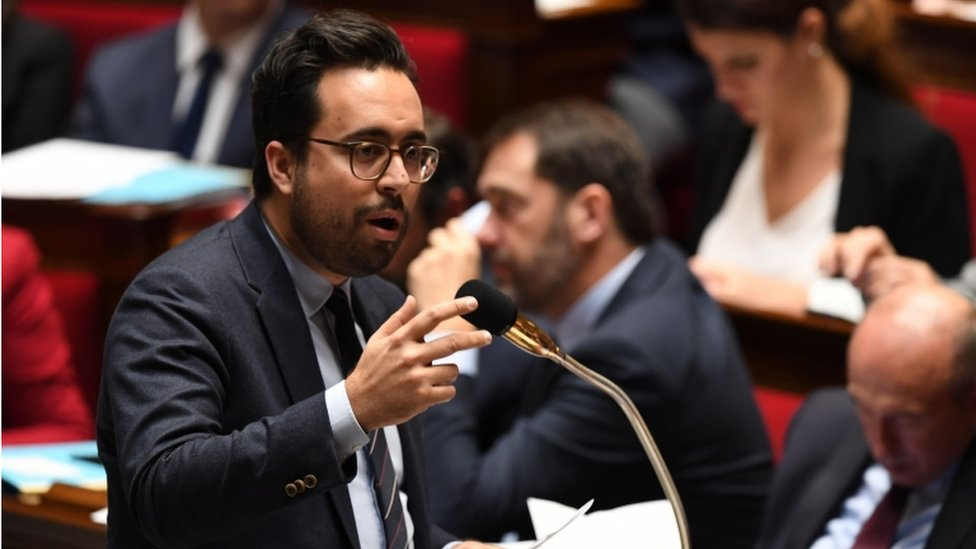 Mounir Mahjoubi speaks during a session of questions to the French government, on 20 December 2017