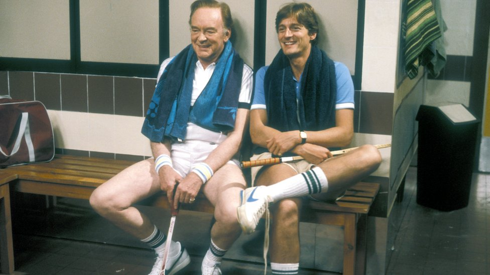 Nigel Havers and Tony Britton in Don't Wait Up, which ran from 1983 to 1990