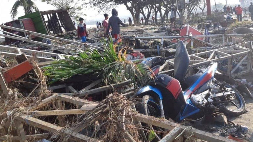 地震和海嘯發生時,有一個沙灘節即將開幕,許多參加節慶的人下落堪憂