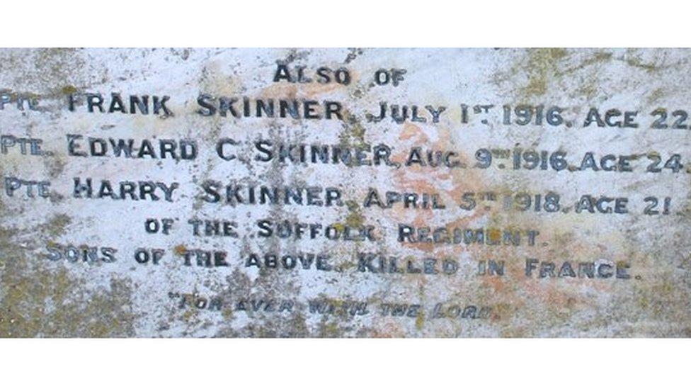 Skinner brothers gravestone