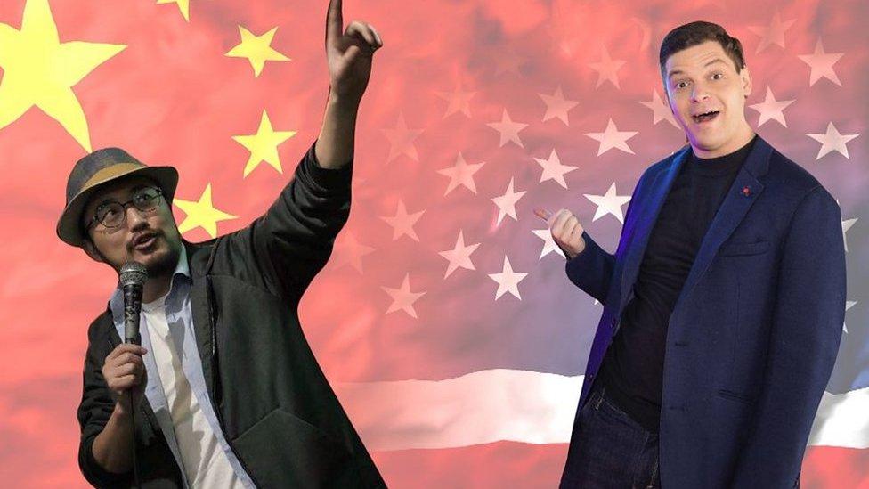 التقى الممثلان الكوميديان جيسي أبيل من الولايات المتحدة وتوني تشو في الصين عبر الإنترنت أثناء الوباء.