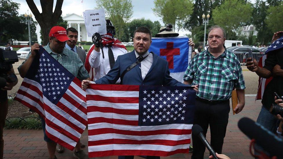 Jason Kessler, organizador de las manifestaciones en Charlottesville en 2017.
