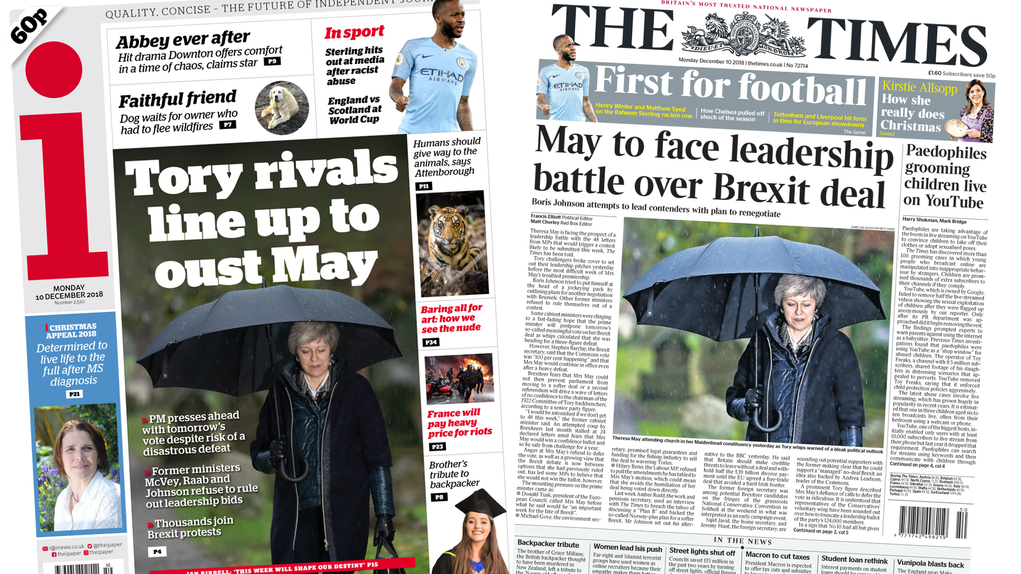 The Papers: Are rivals lining up to oust Theresa May?
