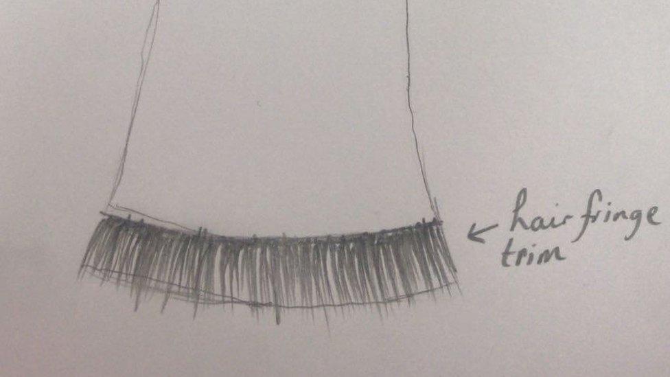 Fringe of the hair dress