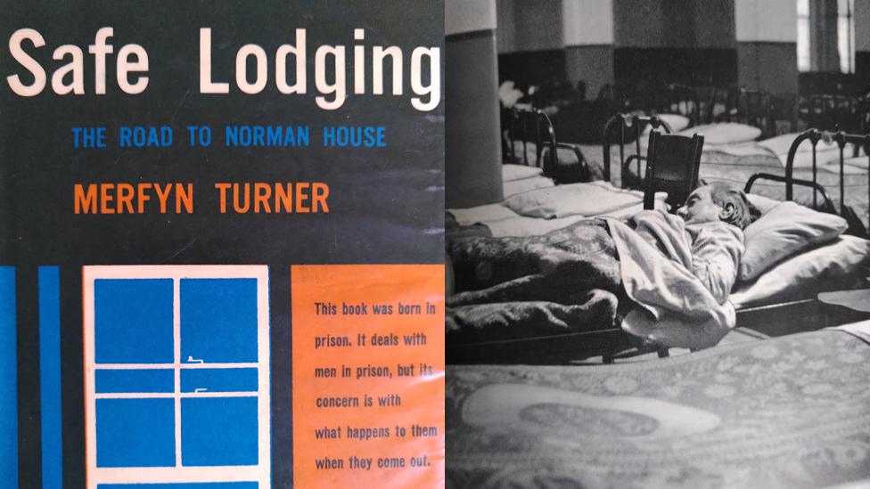Llyfr Merfyn Turner a llun o hostel