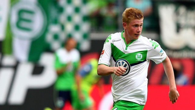 New Manchester City signing Kevin de Bruyne.