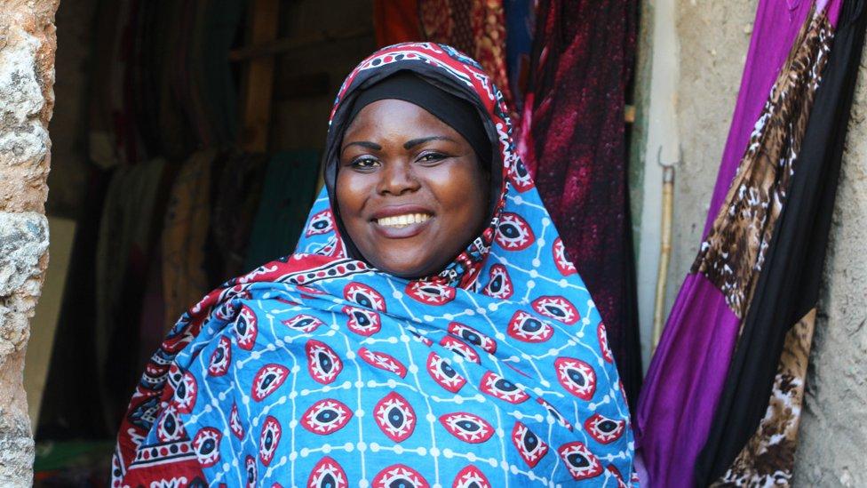 Žena u Zanzibaru