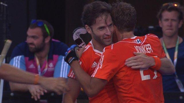 Netherlands celebrate win against England