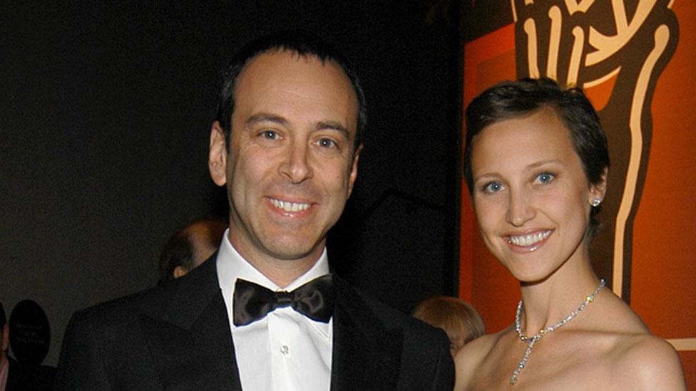 Eddie Lampert y su esposa, Kinga.
