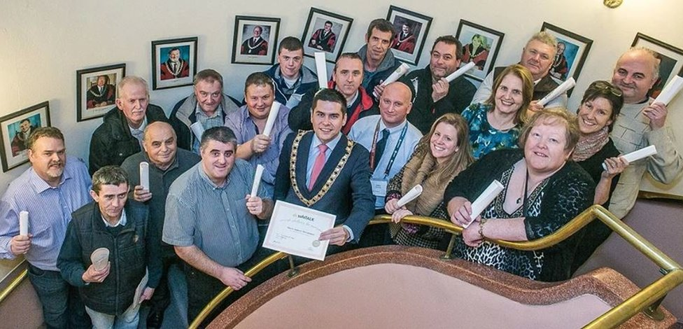The volunteers were trained in the mayor's chambers