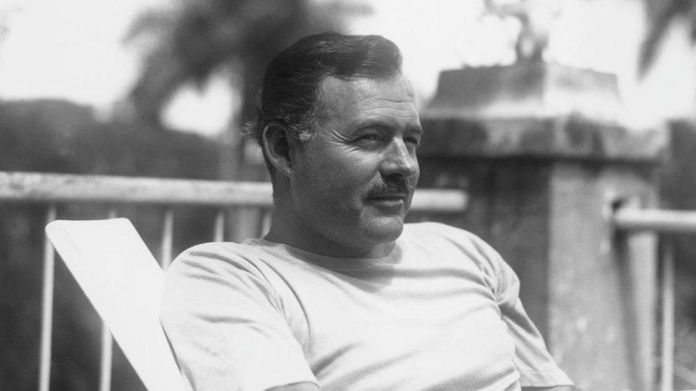 Hemingway en Finca Vigía en 1940.
