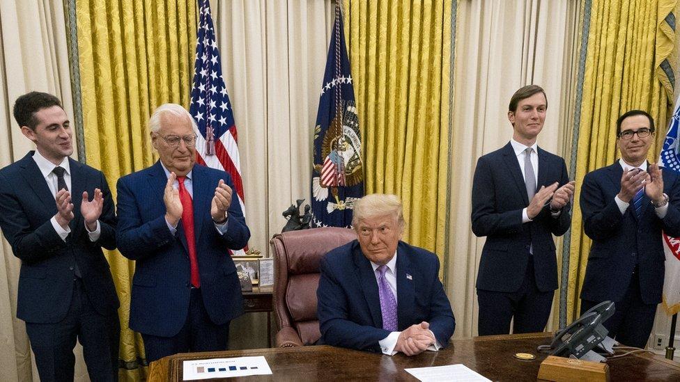 ترامب بعد الإعلان عن الإتفاق