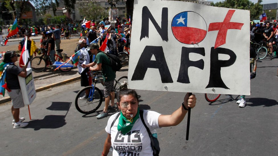 protestas en chile AFP