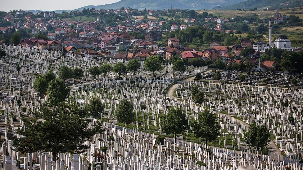 A general view of the city cemetery on July 8, 2015 in Sarajevo, Bosnia and Herzegovina