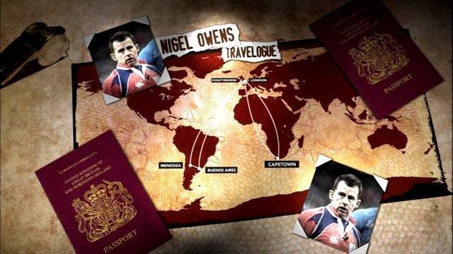 Nigel Owens travelogue graphic
