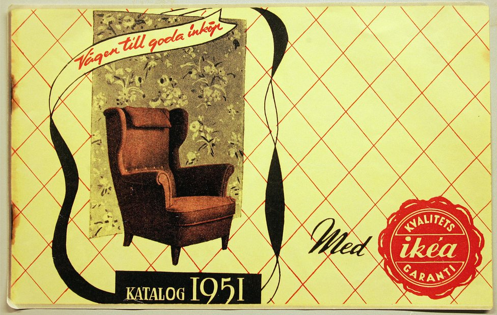The cover to the first Ikea catalog from 1951