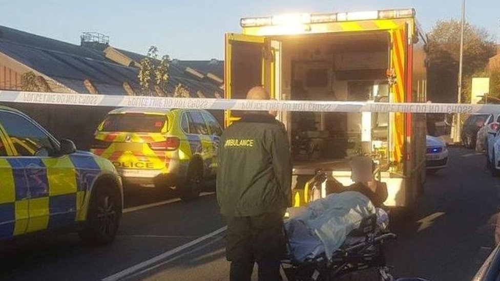 Police officer run over in Blackley during van chase
