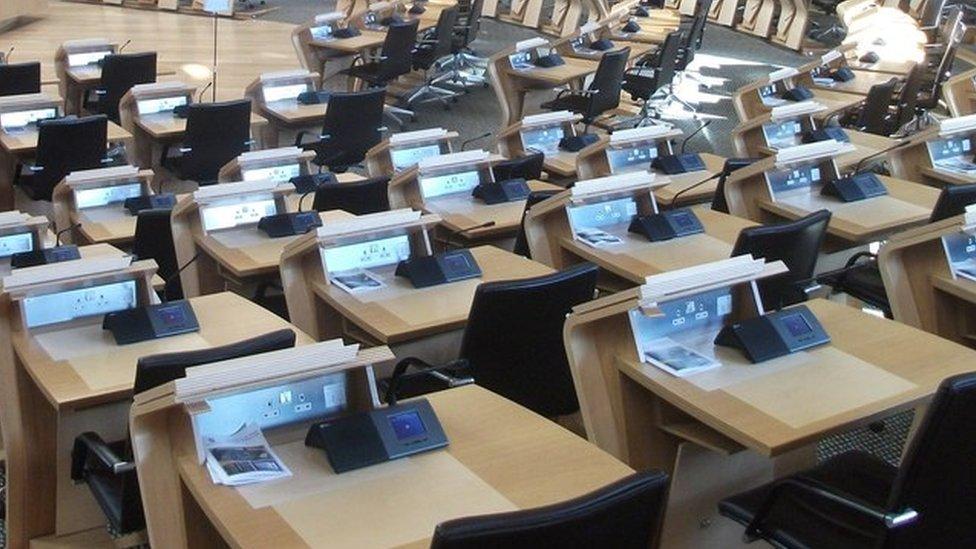 Holyrood desks
