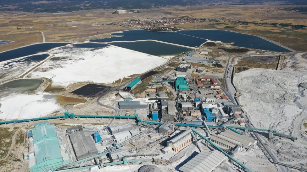 Eti Mine Works in Turkey