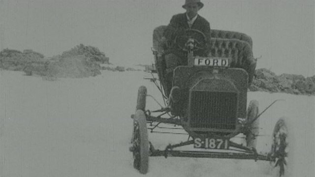 Ford Model T being driven down Ben Nevis