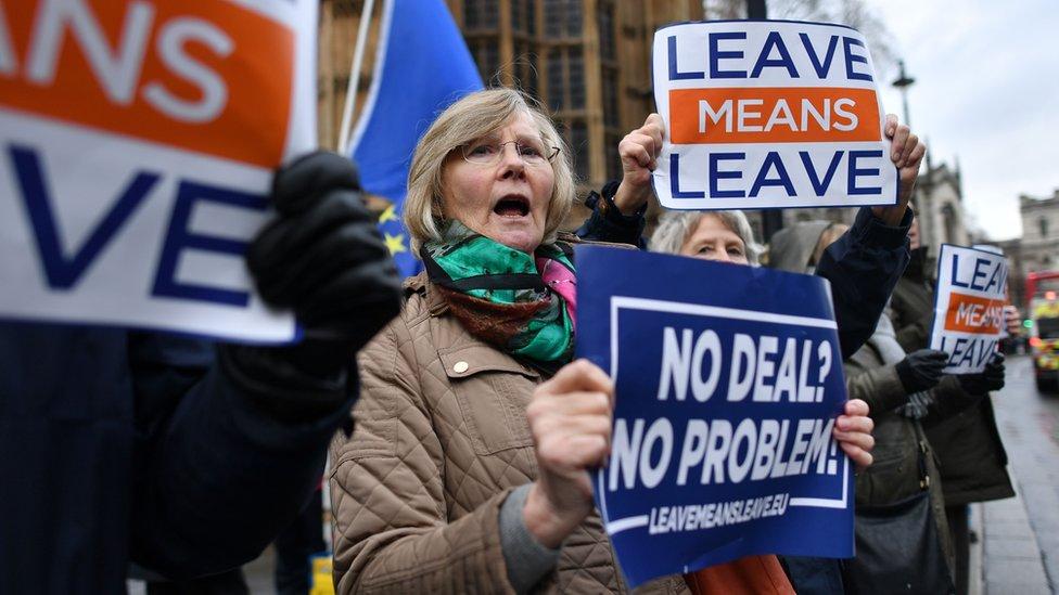 Protesta pro Brexit