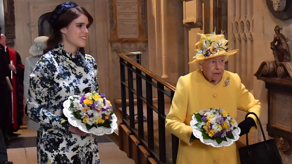 The Queen and Princess Eugenie