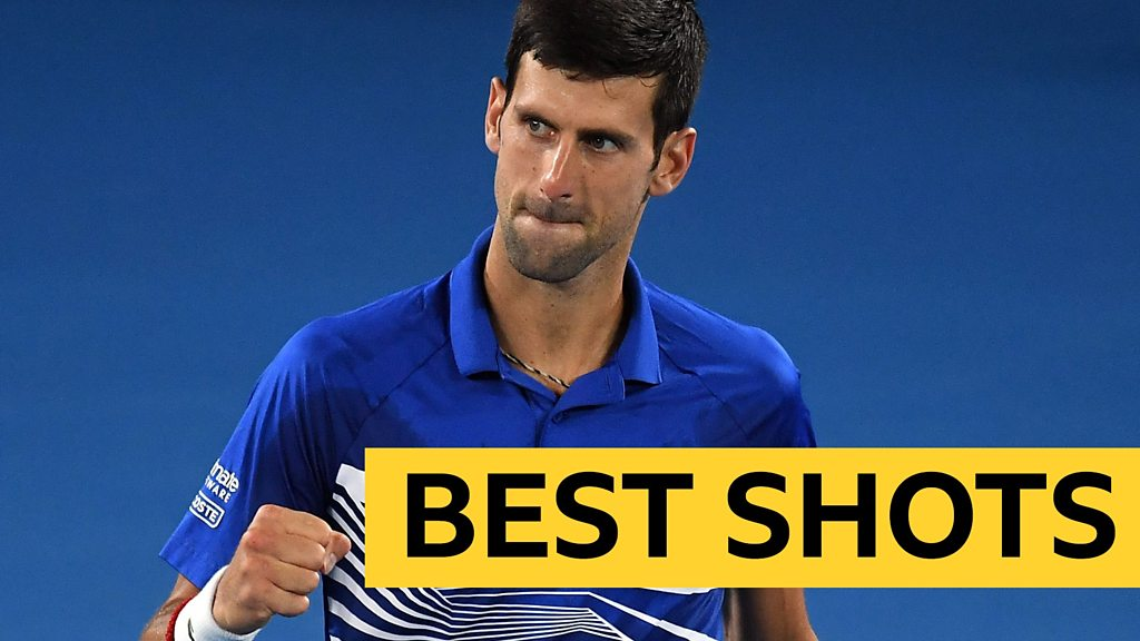 Australian Open: Novak Djokovic beats Lucas Pouille to reach final - best shots