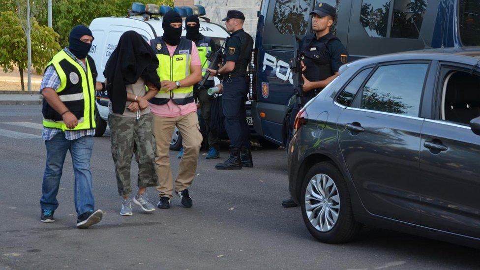 Haque being arrested