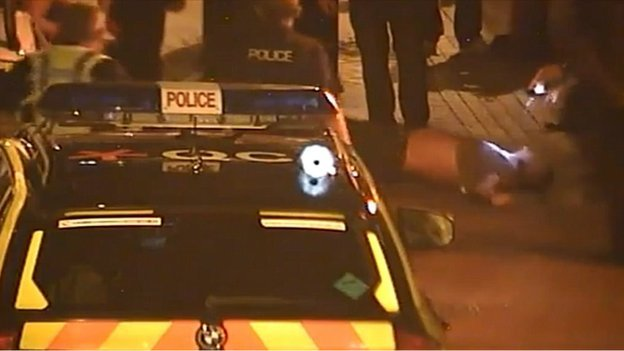 CCTV footage of Weymouth Taser incident