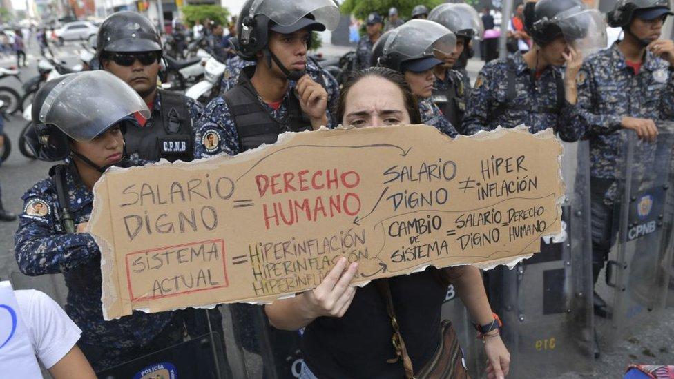 Protesta en Caracas, en noviembre de 2018