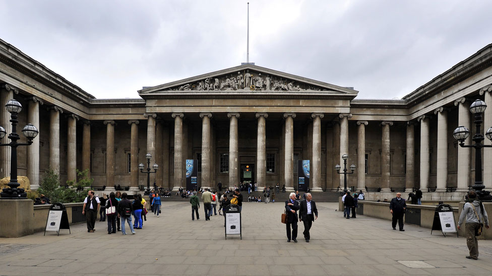 British museum, in the Bloomsbury district of London