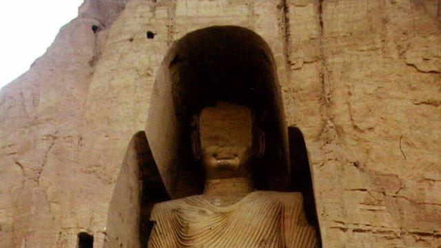 One of the Bamiyan Buddhas