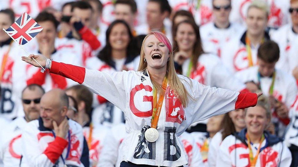 Jodie Grinham at the London 2012 Paralympic Games