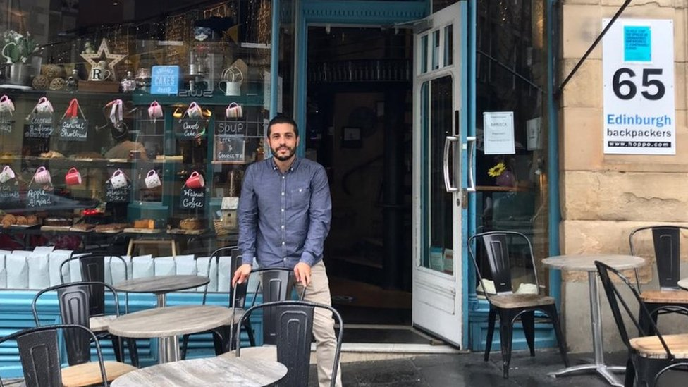Rod Dos Santos, manager of Southern Cross Cafe in Cockburn Street
