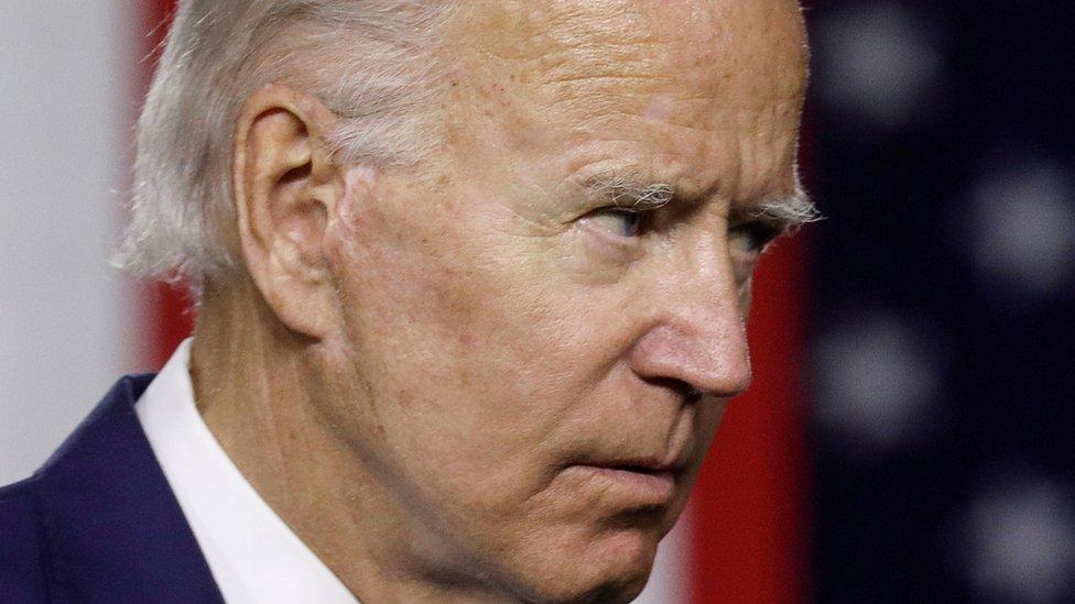 Joe Biden en julio de 2020
