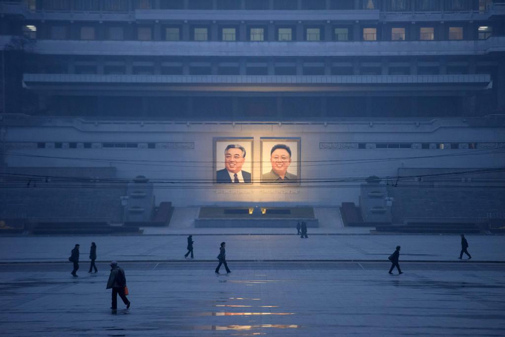 Portraits of Kim Il-sung and Kom Jong-il